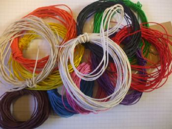 Choice of Colour 1mm Dyed Hemp Twine x 10 mts